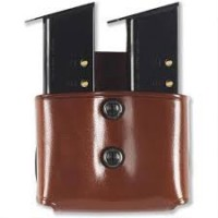 Size M1  Single / Staggered  Magazine Pouch Blk/Brown