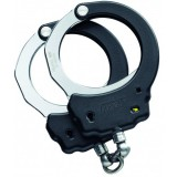 Black Steel Handcuffs Chain Yellow Tactical