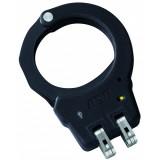 Black Aluminium Handcuffs Hinge Yellow Tactical