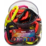 Mini Polymer Carabiner Bin 50 Pack
