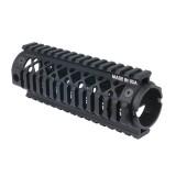 AR15 Carbine Length 2 piece Quad Rail Forend 71QF01BK