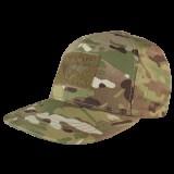 Flat Bill Snap Back Hat Multicam