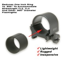 ".900"" Flashlight Mounting Ring Reducer Model Ggg-1249"