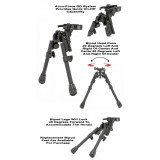 Xds-2 Quick Detach Tactical Bipod Model Ggg-1557