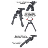 Quick Detach Xds-2c Tactical Bipod (Compact) Model Ggg-1745