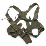 MP7 Eagle Shoulder Holster with lanyard with ring, black nylon