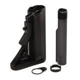 L7LA2D SOPMOD Buttstock Assembly includes the Action Spring, Heavy Carbine Buffer, Heavy Duty Push Button Swivel, Mil-Spec 6 Position Tube, Plate and Nut