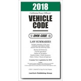 2018 California Vehicle Code Qwik-code Law Summaries Model QV18