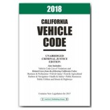 2018 California Vehicle Code Unabridged Model UV18