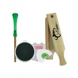 Friction Slate Call, Starter Pk1, W/3 Mouth Calls, Clam
