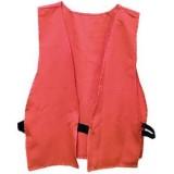 Safety Vest, Hunter Orange, Adult Size, Logo On Back, Poly Bag
