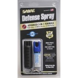 Combo Keychain Self Defense Spray with Extra Practice Canister and Quick Release (0.54 oz /aprox. 25 Shots)