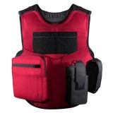 V1 Firearms Instructor Carrier, Fixed Pockets, Red Model SBA-V1-FIRE-PKT
