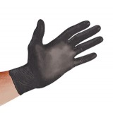 "Black Powder-Free Nitrile Gloves, 10"" x 5.5 mil, Lg., 100 ea."