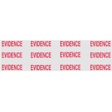 Box Sealing Evidence Tape, Red on Clear