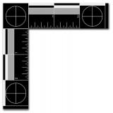 "Metal Forensic Scale, White on Black, English, 4 1/8"" x 4 1/8"""