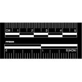 """Photo Evidence Scales, 2""""/5cm, Adhesive Back, White on Black, Set of 50"""