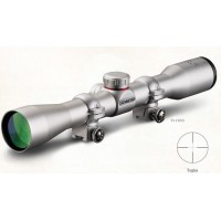 4x32 Silver Truplex W/Rings,Riflescopes.22 Mag