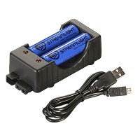 18650 Charger Kit - 120V AC (includes two 18650 batteries)