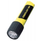 4AA Lux Div 1 with White LED and alkaline batteries. Clam packaged. Yellow