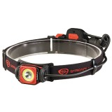 Twin-Task USB Headlamp with USB cord and elastic head strap Clam