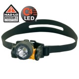 Argo HAZ-LO Div. 1  with alkaline batteries. Rubber And Elastic Straps. Yellow  Model 61026
