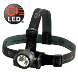 Trident Div. 2 with (2) White and (1) Green LED with alkaline batteries. Rubber & Elastic straps. Green