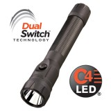 Polystinger Ds Led Flashlight Iec Type A (120v) Ac/12v Dc - 2 Holders - Black (Nicd)
