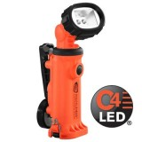 Knucklehead Div 2 Flood Rechargeable Work Light with Articulating Head  with Clip Orange
