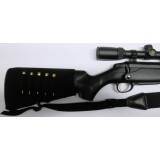 Stock Sock Recoil Suppressor with rifle shell holder